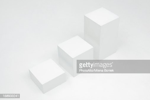 Blocks arranged by height in ascending order