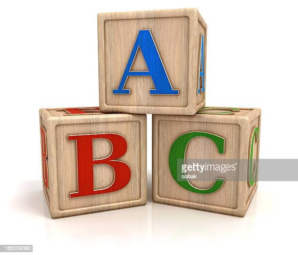 ABC blocks isolated with clipping path