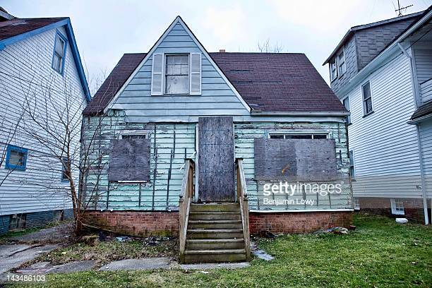 Blocks of Cuyahoga County are filled with vacant and stripped homes the city of Cleveland too cashstrapped to demolish all of them on February 2 2012...