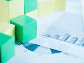 Blocks on paper charts