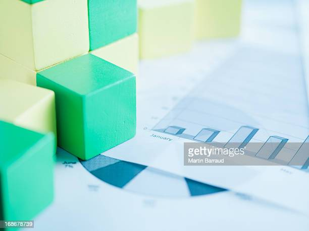 Blocks on paper charts