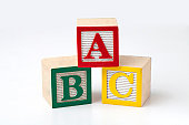 ABC Blocks on a white background