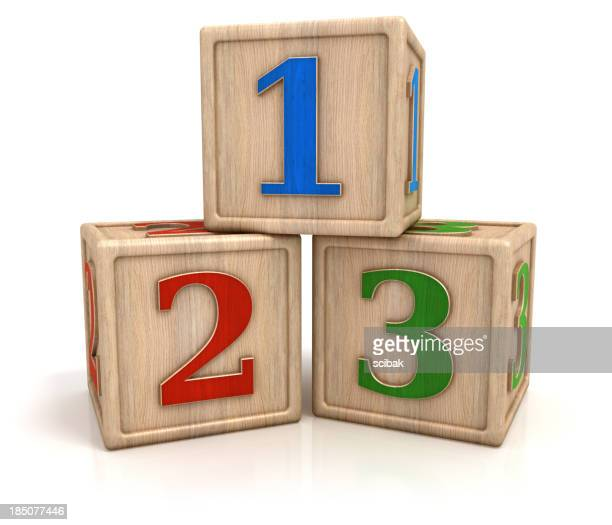 Blocks with numbers 1 2 3