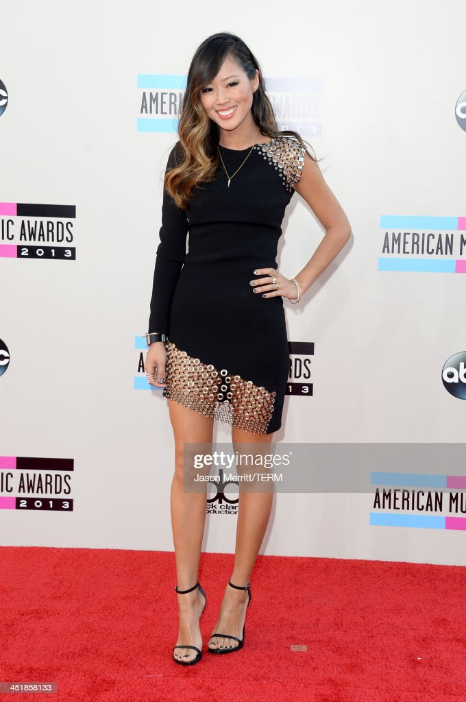 Blogger <a gi-track='captionPersonalityLinkClicked' href=/galleries/search?phrase=Aimee+Song&family=editorial&specificpeople=8209309 ng-click='$event.stopPropagation()'>Aimee Song</a> attends the 2013 American Music Awards at Nokia Theatre L.A. Live on November 24, 2013 in Los Angeles, California.