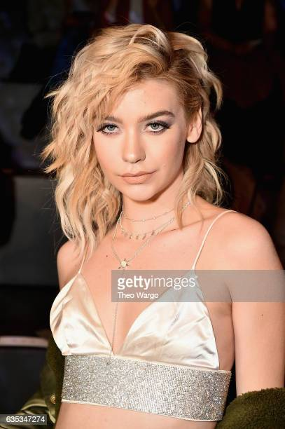 Blogger Amanda Steele attends the The Blonds collection during New York Fashion Week The Shows at Gallery 1 Skylight Clarkson Sq on February 14 2017...