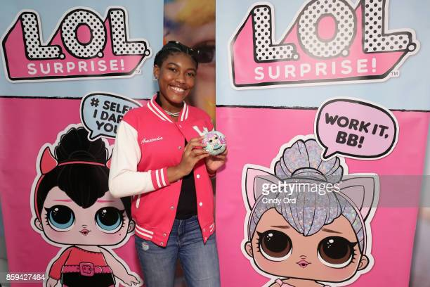 Blogger Ameenah Lee attends the launch of the LOL Surprise Unboxing Video Booth and LOL Surprise Pets hosted by Hilaria Baldwin at Toys 'R' Us NYC on...