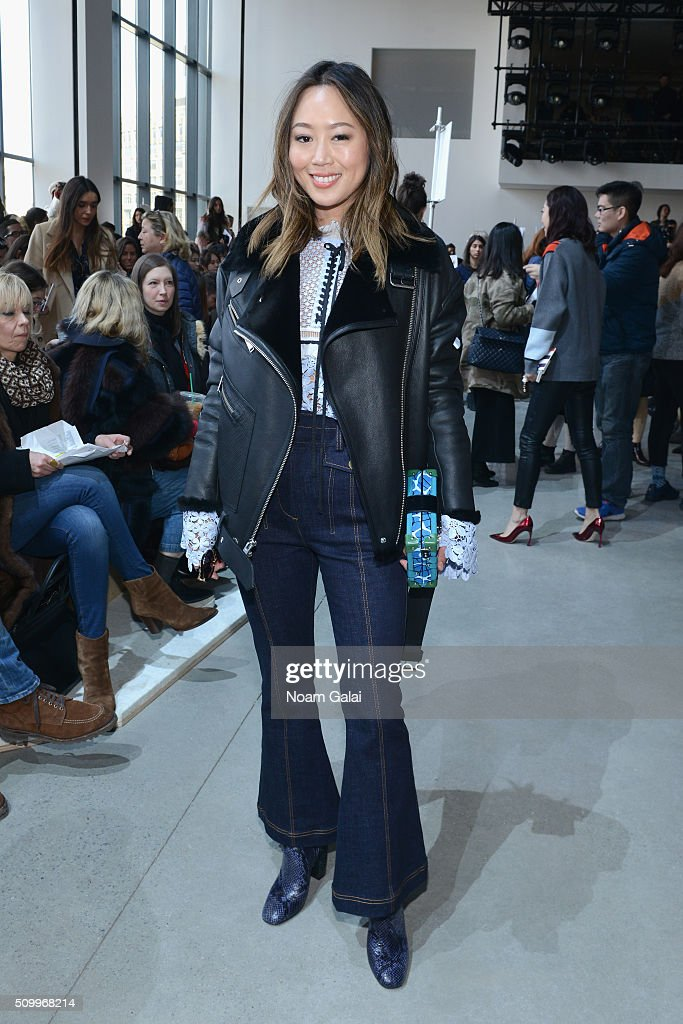 Blogger, Amiee Song, attends the Lacoste Fall 2016 fashion show during New York Fashion Week at Spring Studios on February 13, 2016 in New York City.