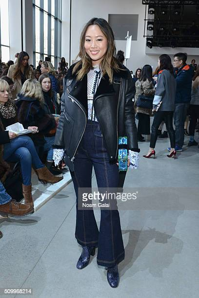 Blogger Amiee Song attends the Lacoste Fall 2016 fashion show during New York Fashion Week at Spring Studios on February 13 2016 in New York City