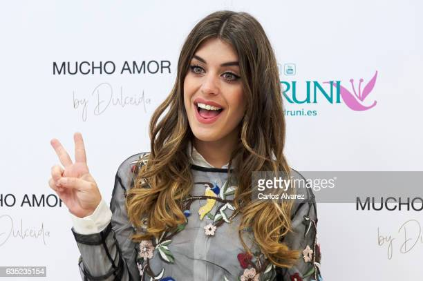 Blogger and influencer Aida Domenech 'Dulceida' presents her new parfum 'Mucho Amor' at the Druni store on February 14 2017 in Madrid Spain