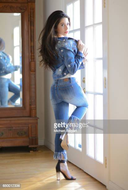 Blogger and Influencer Jennifer Tapiero poses for Portraits at The Artists Project Social Media Day on March 8 2017 in Los Angeles California