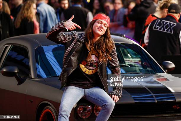 Blogger and influencer Riccardo Simonetti attends the premiere for the film 'Fast Furious 8' at Sony Centre on April 4 2017 in Berlin Germany