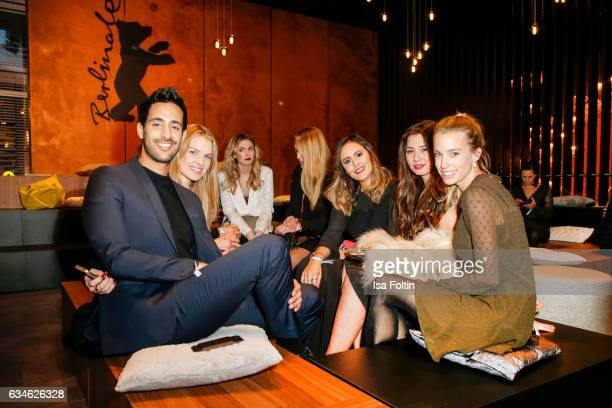 Blogger and Influencer Sami Slimani with Blogger friends during the Audi Lounge Night Audi At The 67th Berlinale International Film Festival on...