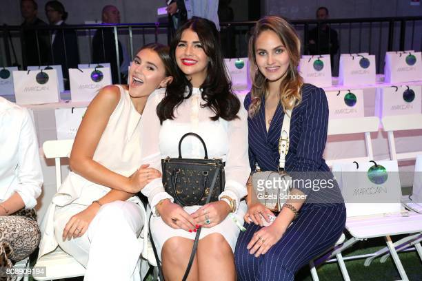 Blogger and Model Stefanie Giesinger blogger Farina Opoku and Elena Carriere daughter of Mathieu Carriere gntm during the Marc Cain Fashion Show...