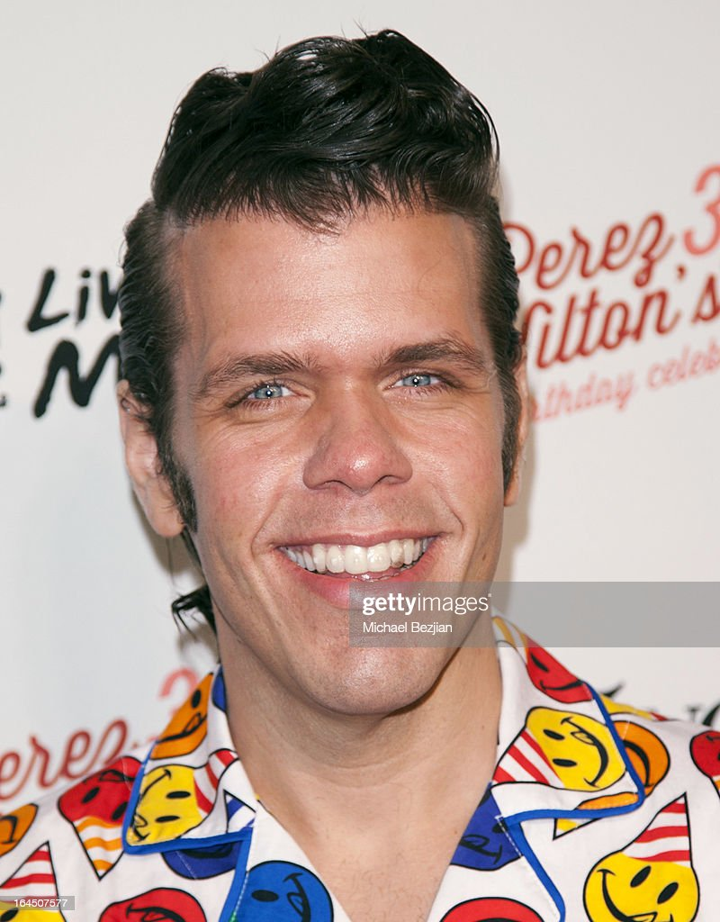 Blogger and TV personality Mario Armando Lavandeira, Jr. aka <a gi-track='captionPersonalityLinkClicked' href=/galleries/search?phrase=Perez+Hilton&family=editorial&specificpeople=598309 ng-click='$event.stopPropagation()'>Perez Hilton</a> arrives at <a gi-track='captionPersonalityLinkClicked' href=/galleries/search?phrase=Perez+Hilton&family=editorial&specificpeople=598309 ng-click='$event.stopPropagation()'>Perez Hilton</a>'s 35th Birthday Party Extravaganza - Arrivals at El Rey Theatre on March 23, 2013 in Los Angeles, California.