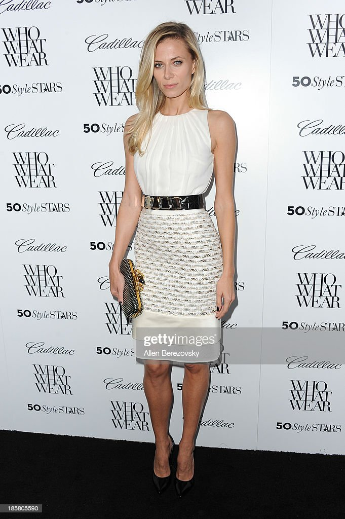 Blogger Ashley Fultz attends the Who What Wear and Cadillac's 50 Most Fashionable Women of 2013 event at The London Hotel on October 24, 2013 in West Hollywood, California.
