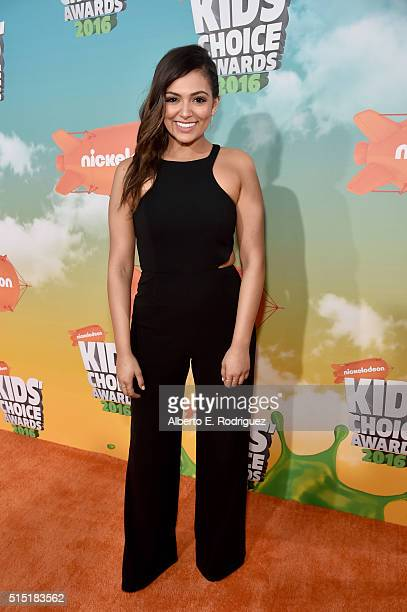 Blogger Bethany Mota attends Nickelodeon's 2016 Kids' Choice Awards at The Forum on March 12 2016 in Inglewood California