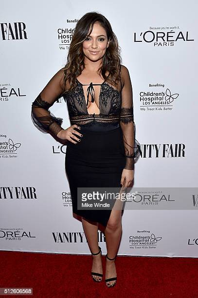 Blogger Bethany Mota attends Vanity Fair L'Oreal Paris Hailee Steinfeld host DJ Night at Palihouse Holloway on February 26 2016 in West Hollywood...