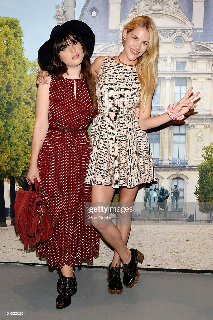 Blogger Betty Autier (L) and model Ashley Smith attend the Maison Jules Presentation during Mercedes-Benz Fashion Week Spring 2015 at Art Beam on September 2, 2014 in New York City.