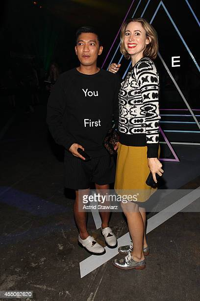 blogger BryanBoy and Alexis Bryan Morgan attend the Marc By Marc Jacobs Spring 2015 Front Row at Pier 94 during MercedesBenz Fashion Week Spring 2015...