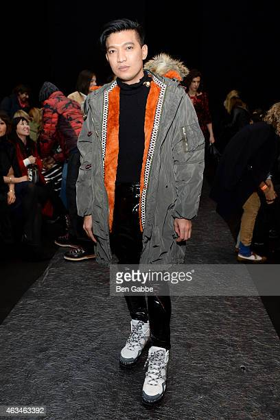 Blogger Bryanboy attends the Altuzarra fashion show during MercedesBenz Fashion Week Fall 2015 at Spring Studios on February 14 2015 in New York City