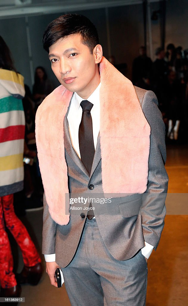 Blogger Bryanboy attends the Jeremy Laing fall 2013 fashion show during Mercedes-Benz Fashion Week at Pier 59 on February 10, 2013 in New York City.