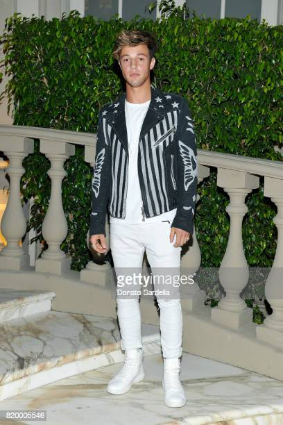 Blogger Cameron Dallas at BALMAIN celebrates first Los Angeles boutique opening and Beats by Dre collaboration on July 20 2017 in Beverly Hills...