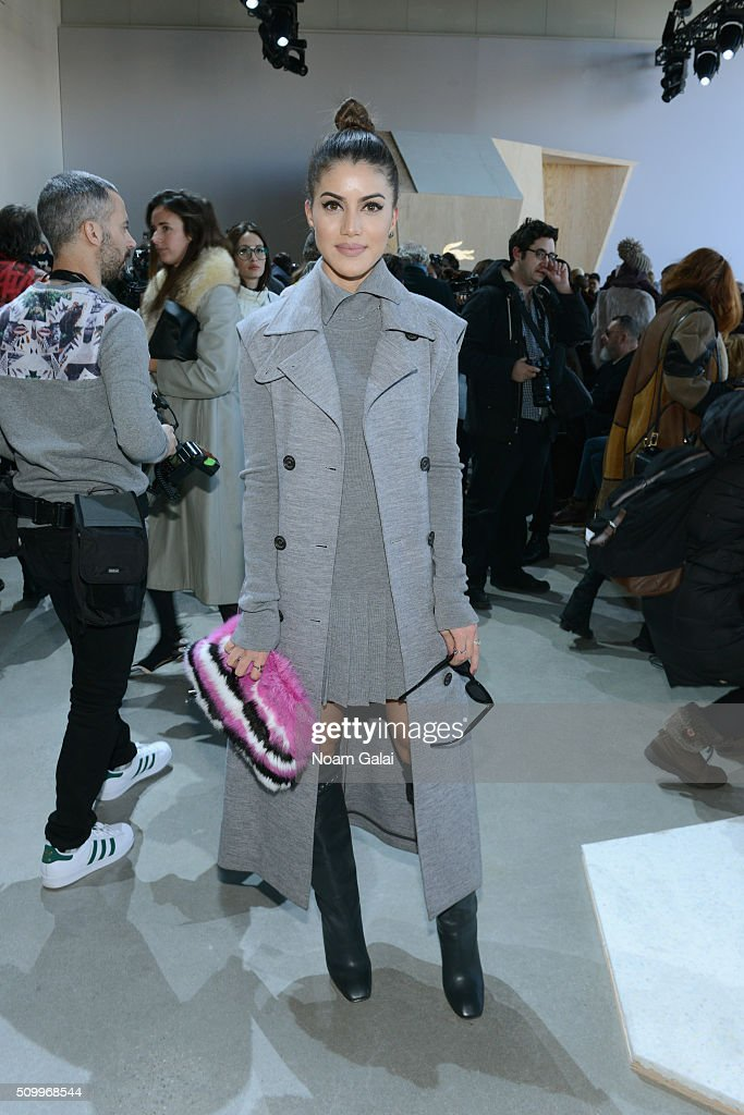 Blogger Camila Coelho attends the Lacoste Fall 2016 fashion show during New York Fashion Week at Spring Studios on February 13, 2016 in New York City.