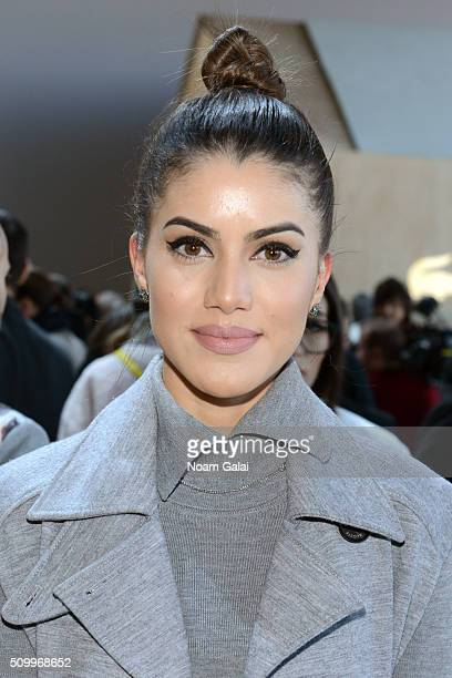 Blogger Camila Coelho attends the Lacoste Fall 2016 fashion show during New York Fashion Week at Spring Studios on February 13 2016 in New York City