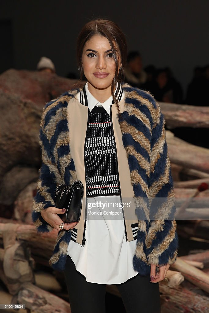 Blogger Camila Coelho attends the Public School Fall 2016 fashion show during New York Fashion Week on February 14, 2016 in New York City.