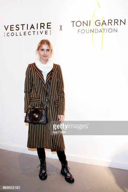 Blogger Caro Daur at the Vestiaire Collective and Toni Garrn Charity Sale Opening on November 2 2017 in Berlin Germany
