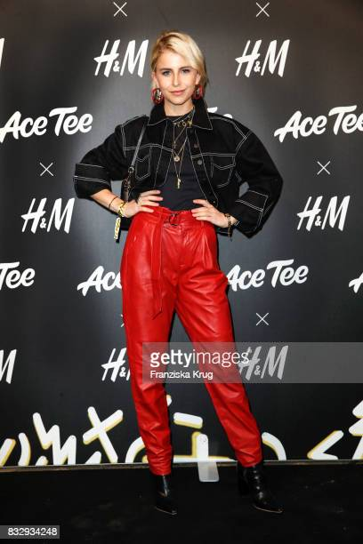 Blogger Caro Daur attends the HM Acee Tee showcase on August 16 2017 in Berlin Germany