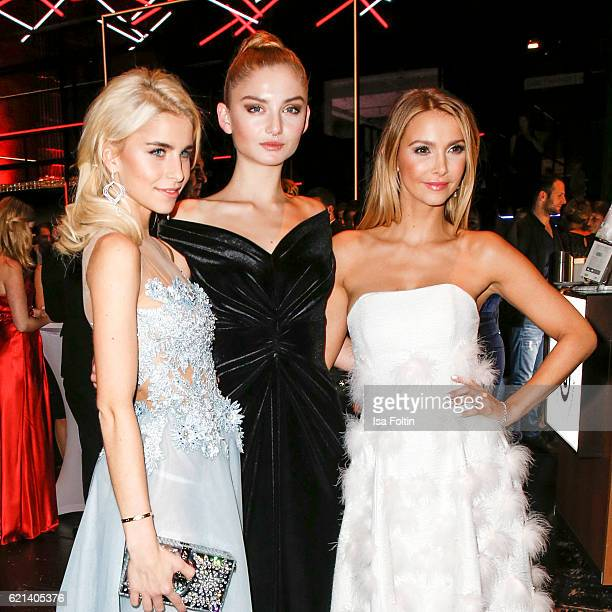 Blogger Caro Daur blogger Julia Wulf and blogger Sophie Hermann attend the aftershow party during the 23rd Opera Gala at Deutsche Oper Berlin on...