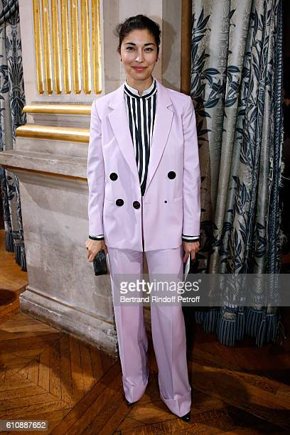 Blogger Caroline Issa attends the Lanvin show as part of the Paris Fashion Week Womenswear Spring/Summer 2017 Held at Paris City Hall on September 28...