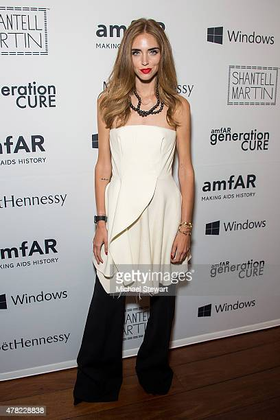 Blogger Chiara Ferragni attends the 4th Annual Solstice presented by amfAR's generationCURE at Hudson Hotel on June 23 2015 in New York City