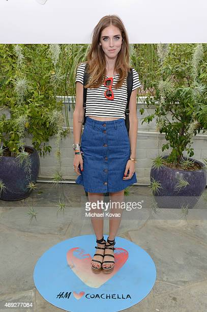 Blogger Chiara Ferragni attends the Official HM Loves Coachella Party at the Parker Palm Springs on April 10 2015 in Palm Springs California