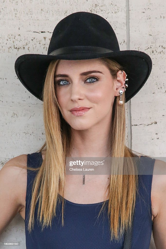 Blogger <a gi-track='captionPersonalityLinkClicked' href=/galleries/search?phrase=Chiara+Ferragni&family=editorial&specificpeople=6755910 ng-click='$event.stopPropagation()'>Chiara Ferragni</a> is seen wearing on the Streets of Manhattan on September 11, 2013 in New York City.