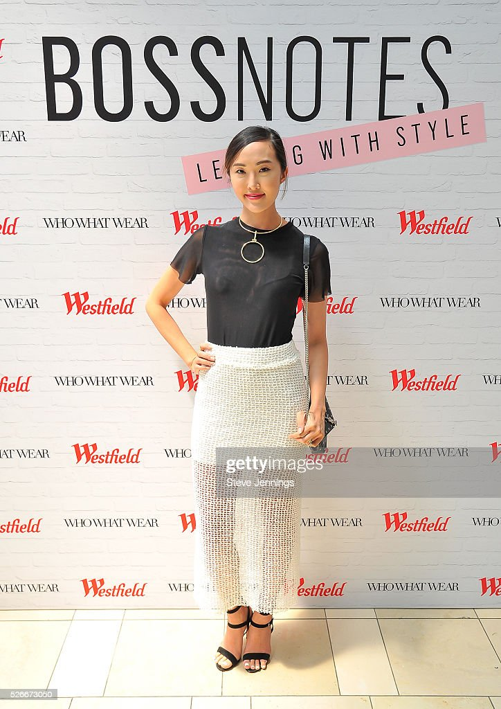 Blogger Chriselle Lim attends the Westfield x Who What Wear Presents: Boss Notes at Westfield Valley Fair event at Westfield Topanga on April 30, 2016 in Woodland Hills, California.