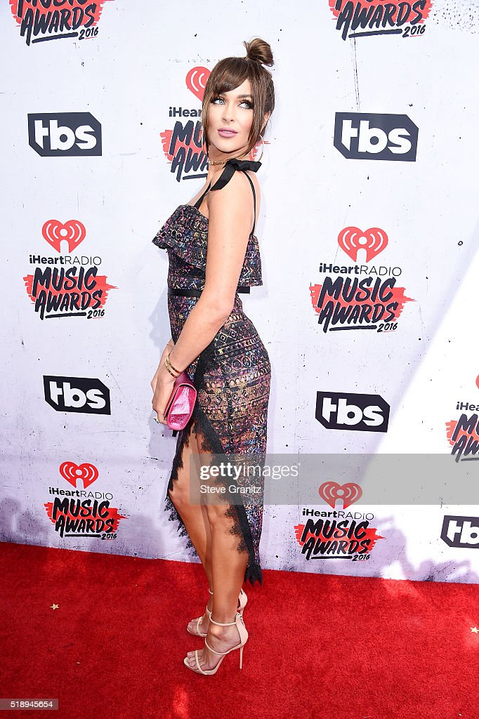Blogger Courtney Sixx attends the iHeartRadio Music Awards at The Forum on April 3 2016 in Inglewood California