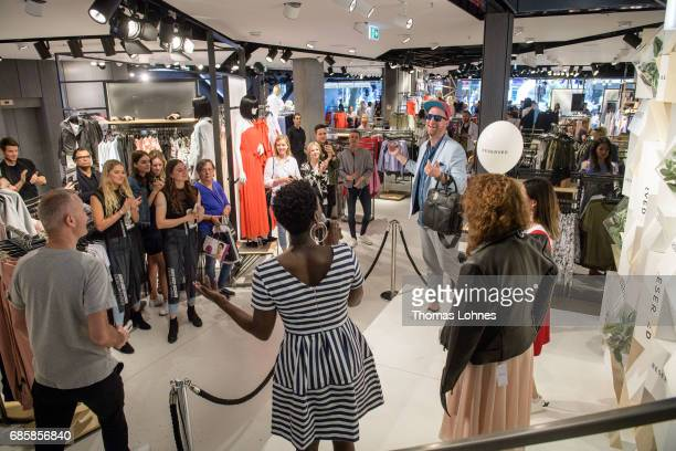 Blogger Daniel Termann in a RESERVED Jeanshemd cropped pants and blue sommer jacket attend a style competition moderated by Nikeata Thompson at the...
