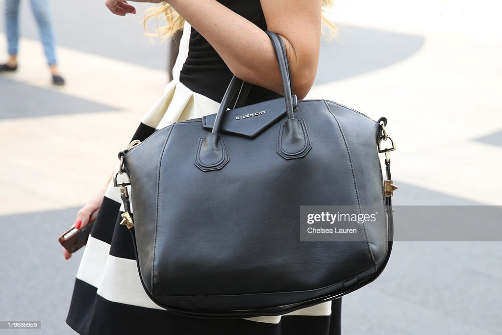Blogger / designer Roser Lou is seen wearing Givenchy purse on the Streets of Manhattan on September 5, 2013 in New York City.