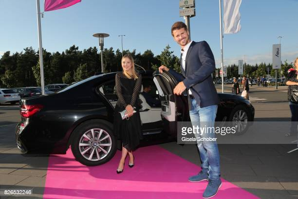 Blogger Diana zur Loewen and Thore Schoelermann arrives to the late night shopping at Designer Outlet Soltau on August 4 2017 in Soltau Germany