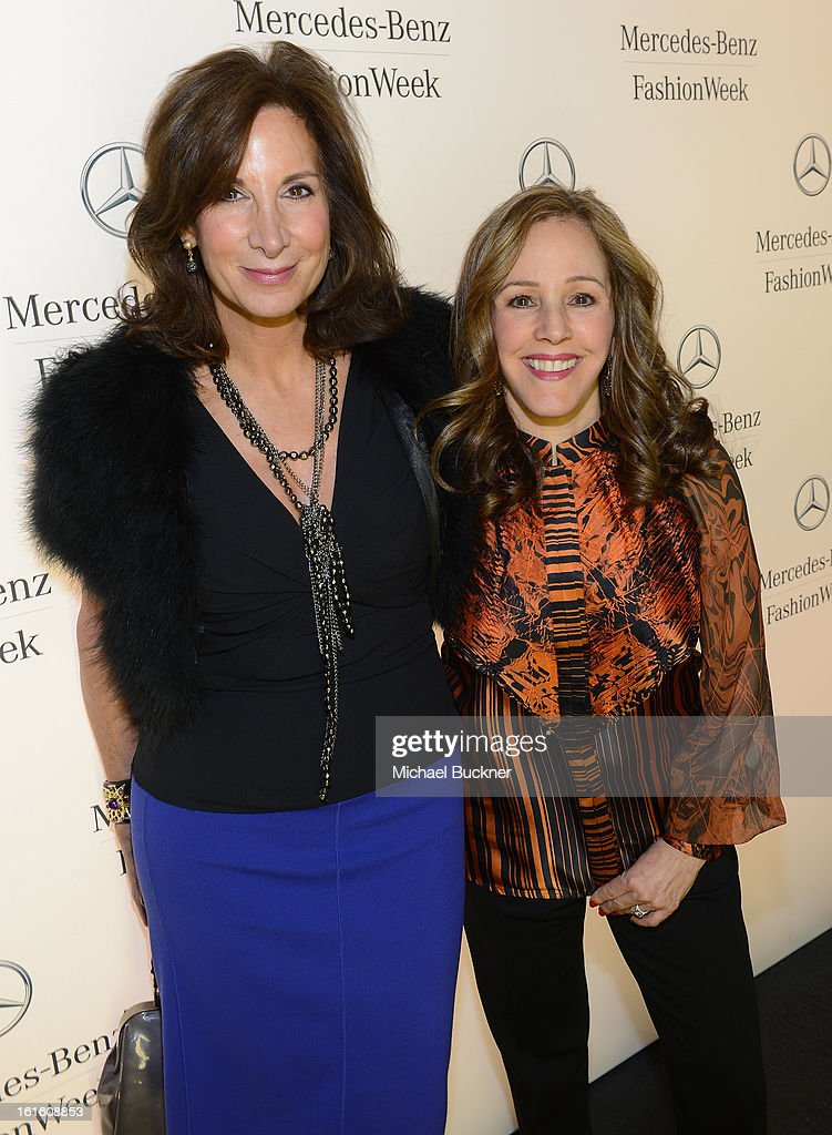 Blogger DivaDebbi (L) and Linda Levy attend the Mercedes-Benz Star Lounge during Mercedes-Benz Fashion Week Fall 2013 at Lincoln Center on February 12, 2013 in New York City.