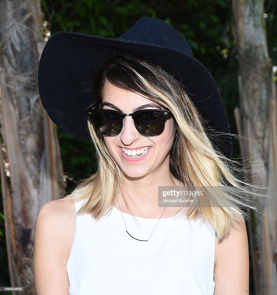 Blogger Elaine Daneshrad attends the June Moss Launch Party hosted by Becca Tobin at a private residence on April 8 2015 in Beverly Hills California