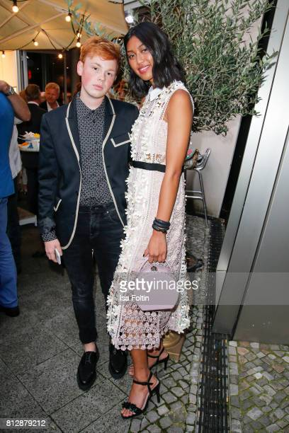 Blogger Erik Scholz and model and influencer Anuthida Ploypetch during the 'True Berlin' Hosted By Shan Rahimkhan on July 11 2017 in Berlin Germany