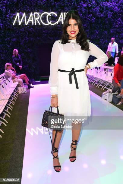 Blogger Farina Opoku during the Marc Cain Fashion Show Spring/Summer 2018 at ewerk on July 4 2017 in Berlin Germany