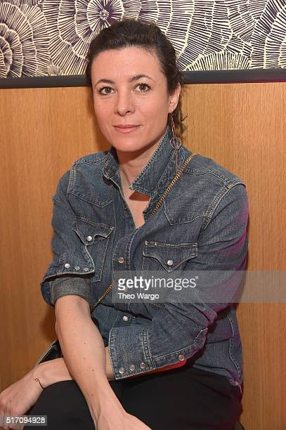 Blogger Garance Dore at the ActuallySheCan and Tribeca Digital Studios film announcement at the Little Park Restaurant The Smyth Hotel on March 23...