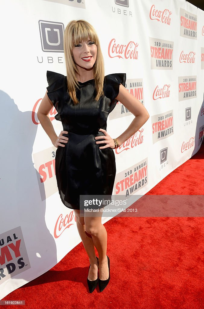 Blogger Grace Helbig attends the 3rd Annual Streamy Awards at Hollywood Palladium on February 17, 2013 in Hollywood, California.