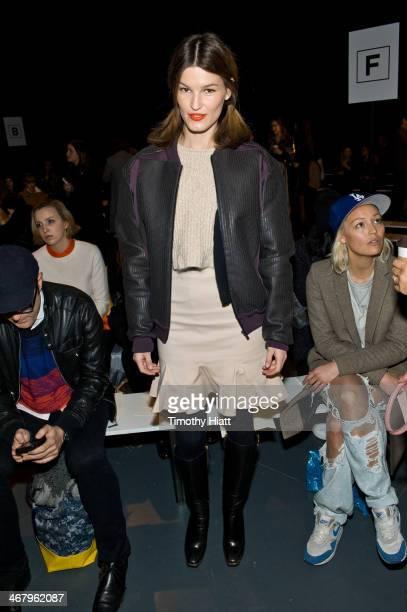 Blogger Hanneli Mustaparta attends the Tibi fah MercedesBenz Fashion Week Fall 2014 at Pier 59 on February 8 2014 in New York City
