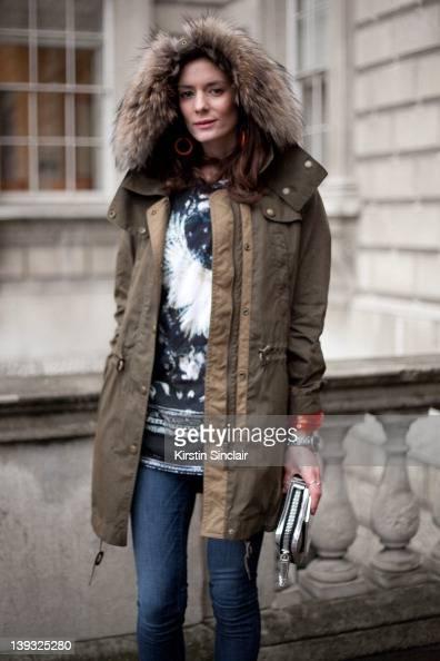 blogger Hedvig Opshaug wearing Burberry jacket Acne shoes Alexander Wang bag Yves Saint Laurent ring Balmain tshirt J brand jeans Balenciaga bracelet...