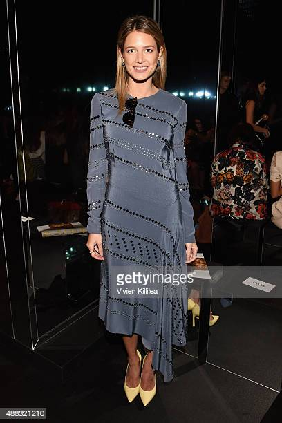 Blogger Helena Bordon attends Vera Wang Spring 2016 during New York Fashion Week at Cedar Lake on September 15 2015 in New York City